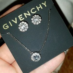 Givenchy studs and necklace